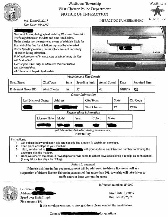 Fake traffic tickets issued in Chester County   Delaware ...