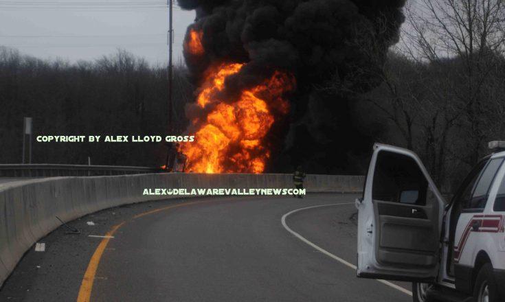 tanker explosed on I-95 I-95 woodhaven accident   Delaware
